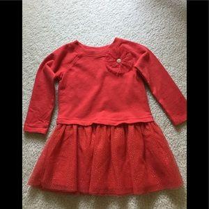 Girls 2T red & gold glitter tutu dress